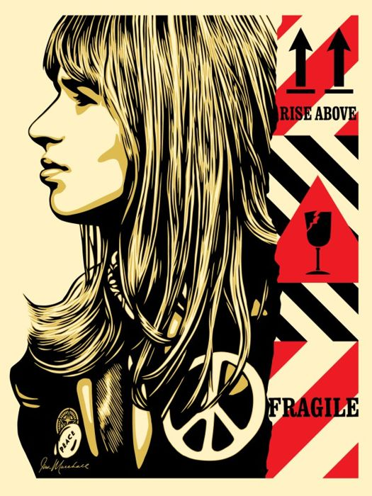 Shepard Fairey (OBEY) - Fragile-Peace