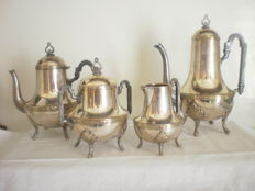 4-piece silver plated metal tea/coffee set, silversmith Trambouze & Choquet, France, 1912