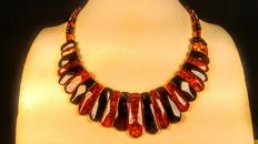 Baltic Amber multi colour necklace, 24 grams