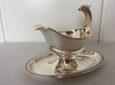 Silver plated Saucière with eagle head, Christofle France 1970