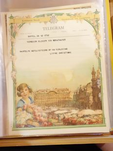A collection of 185 Belgian Telegram cards