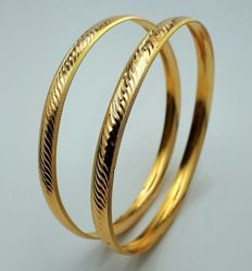 8g 2 Bangle Set, 22 Ct Gold, *** LOW RESERVE PRICE ***