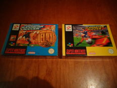 "Snes ""International Superstar Soccer"" + ""International Superstar Soccer DeLuxe"" Both Fully Complete"