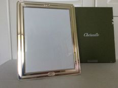 Large silver plated photo frame, Christofle France, ca. 1970