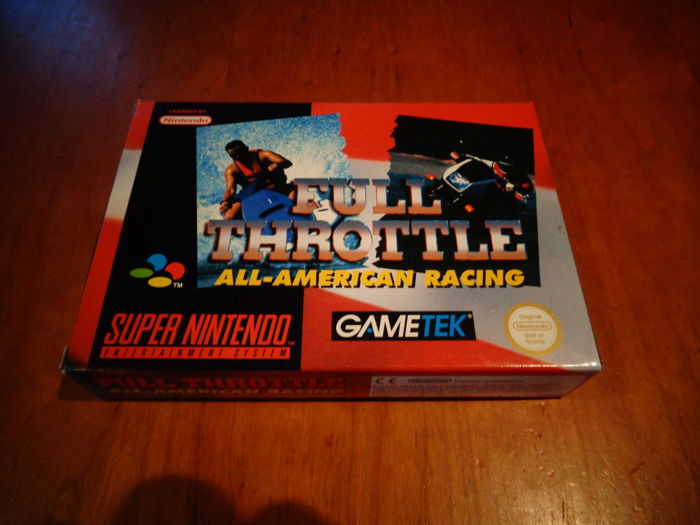 "Super Nintendo ""Full Throttle, All American Racing"""