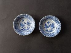 Two lobed bird saucers - China - Kangxi 18th century