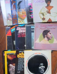 Different Soul Ladies  ; Franklin,Simone,Flack&others - Lot of 20 albums