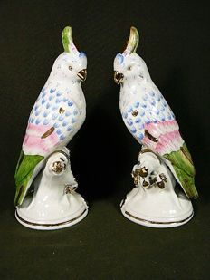 Limoges Astro - Magnificent pair parrots