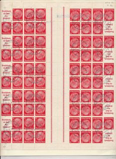 German Reich - 1935-1941 - stamp booklet sheets Hindenburg 3+5 Pf, 12 Pf, 8+1 Pf, 4+12 Pf, 1+12 Pf, 3+6 Pf., Michel MHB 39,40,41,42,43,44.1