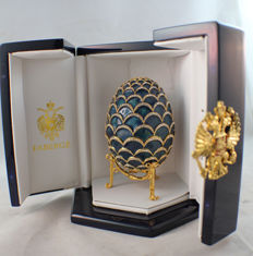 Authentic Faberge Imperial egg from Fabergé blue Cone, Neiman Marcus, new box