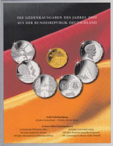 Germany - complete series 10 Euro 2009 (6 pieces) - silver