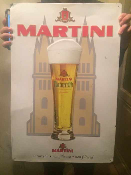 Martinu naturtrüb beer sign from 1859