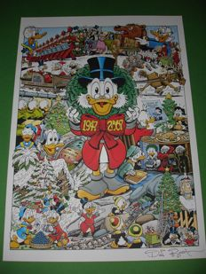 Rosa, Don - Signed Print - Sixty-One Christmases with Uncle Scrooge