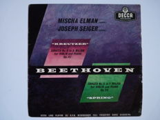 Beethoven -  Mischa Elman & Joseph Seiger - Kreutzer and  Spring, sonates 9 in A major and 5 in F major