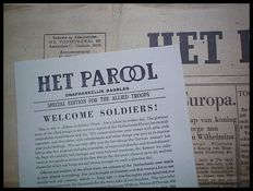 WW II Newspapers; Lot with 160 copies of 'Het Parool' - 1944/1945