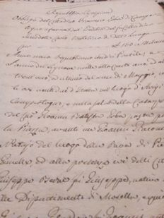 Lot of two manuscripts; 1) Valsesia Cisalpine Republic - 2) Civil proceedings abstract of Palazzolo Brescia district - 1801 / 1836