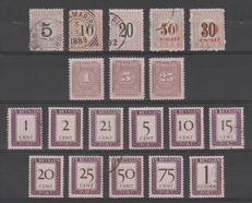 Suriname 1886/1950 - Selection of postage due