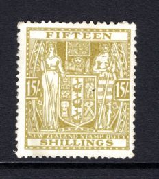 New Zealand 1931/35 - 15s Postal Fiscal Stanley Gibbons F157