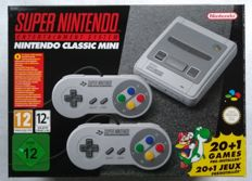 Nintendo SNES Classic Mini with 21 + 100 extra games installed: Combatribes, Universal Soldier, Ogre Battle, Wrecking Crew '98, The Tick, X-Men, Gunforce, Super Valis IV and many many more