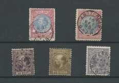 The Netherlands 1852/1867 - Classic selection - NVPH 11, 12, 29, 44, 47C