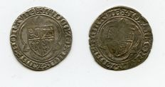 Old Germany - lot with 2 silver groschen, Jobst of Moravia