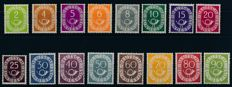"Federal Republic of Germany – 1951 – ""numerals with post horn"" 2 pf to 90 pf in-depth verification Schlegel BPP"