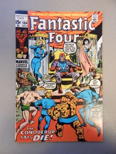 Marvel Comics - Fantastic Four #104 - 1x sc - (1970)