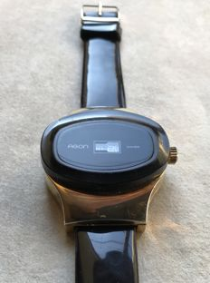 """AGON Swiss - """"Jump Hour"""" vintage men's wristwatch from the 1970s **no reserve price**"""