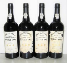 1995 Burmester Vintage Port, Bottled in 1997 - 4 bottles (75cl)