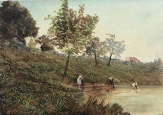 Unknown artist (20th century) - Scena campestre