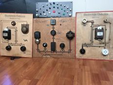 Old school boards for electrical education