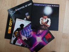Set of 5 great R&B LP's by Albert Collins, Robert Cray, Johnny Copeland and Little Steven and the Disciples of Soul