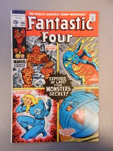 Marvel Comics - Fantastic Four #106 - 1x sc - (1971)