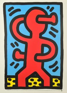 Keith Haring (after) - Growing IV (1988) & Untitled $ (1987)