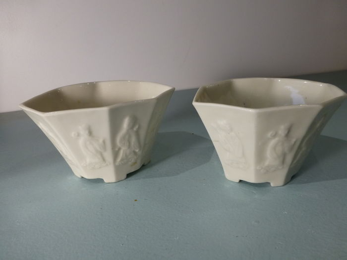 Pair of cups, Blanc de Chine - China, Dehua - early 18th century