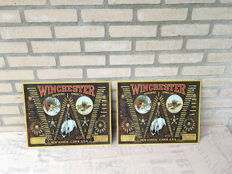 Winchester Metal Gun Sign (2x)