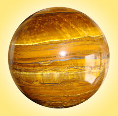 Precious Tiger Eye Sphere, with layers of silver and gold - 10.4 cm - 1760 gm