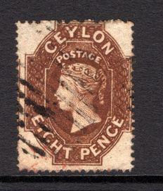 Ceylon 1861 - 8d brown Stanley Gibbons 24