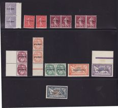 France - collection of Specimen stamps / Cours D'Instruction