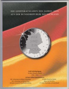 Germany - complete series 10 Euro 2010 (6 pieces) - silver