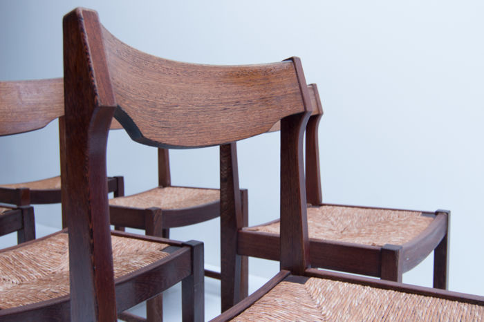 Astounding Manufacturer Unknown Vintage Midcentury Modern Wenge Dining Room Chairs Catawiki Forskolin Free Trial Chair Design Images Forskolin Free Trialorg