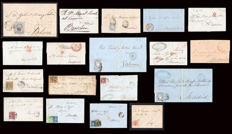 Spain 1835/1880 - Lot of 18 pieces of Seville postal history