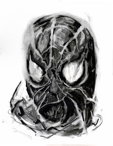Spiderman Head - Original Painting - Arnau Casas