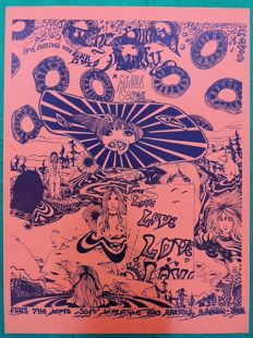 Rare Pink Floyd Middle Earth Festival Concert Poster