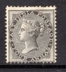 India 1856 - 4a black, Stanley Gibbons 45