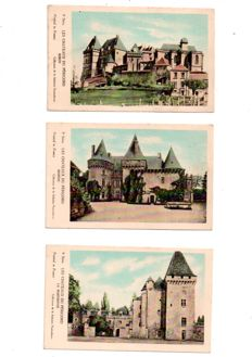 France - lot with 137 old postcards, some semi-modern postcards of cities, villages, churches, castles and others