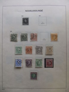 Dutch East Indies 1870/1918 - Collection on album sheets