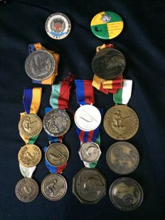 16 Rare Medals of 1st Place in Portuguese Fishing Contests