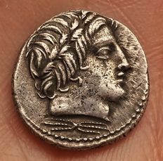 Anonymous. Circa 86 BC. AR Denarius (18mm, 4.13 g.). Rome mint. - B. 226, Syd. 723
