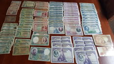 Spain - Lot of 97 Spanish banknotes (1925-1980)